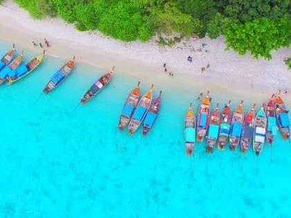Boats at Pattaya Beach, Koh Lipe